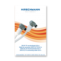 Hirschmann Koka 799 Coaxkabel 5 meter met Coax IEC connector male en female